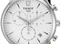 Tissot T0636171603700 Tradition Men's Chrono Quartz Silver Dial Watch with Brown Leather Strap